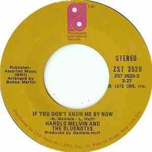 Harold Melvin And The Bluenotes - If You Don't Know Me By Now / Let Me Into Your World flac